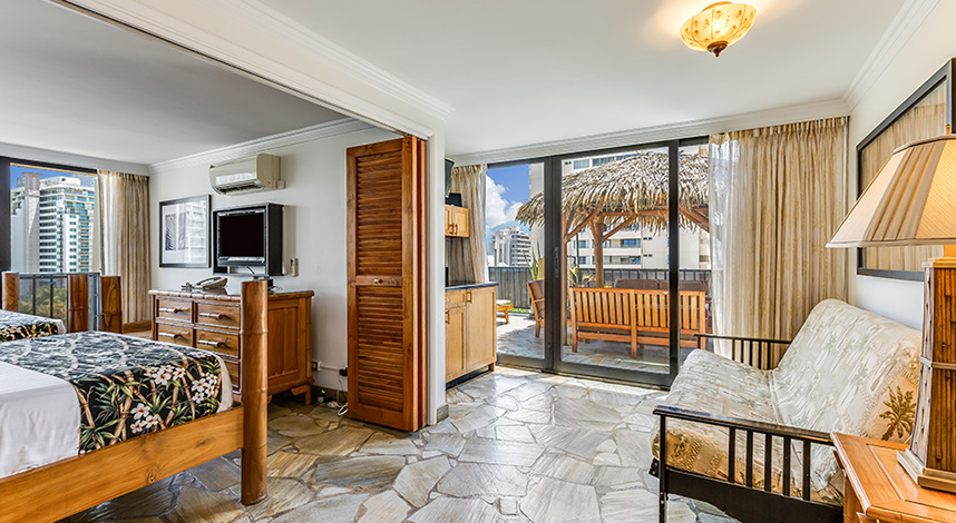 Luxury One Bedroom City Mountain View at Bamboo Waikiki Hotel