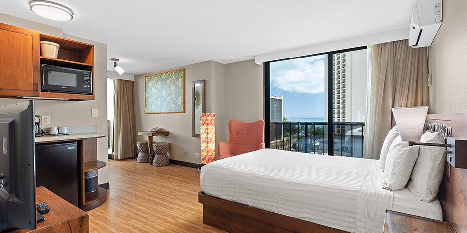 Partial Ocean View Room at Bamboo Waikiki Hotel