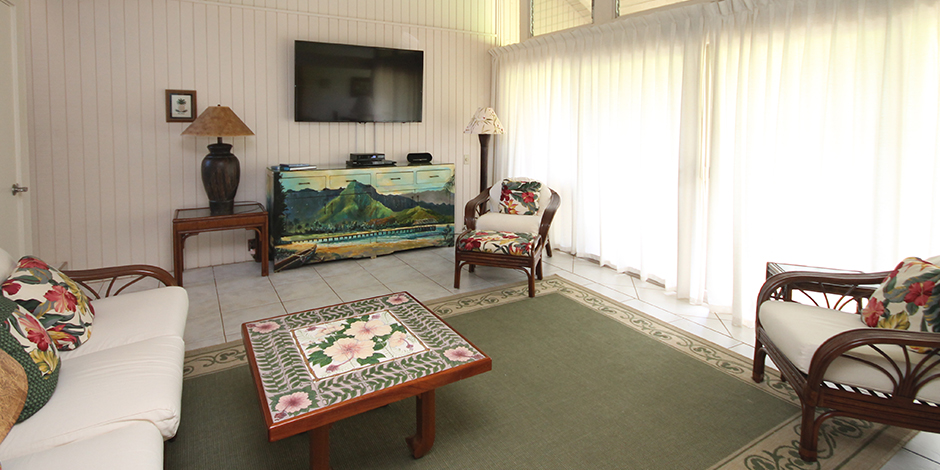 Living Room at Castle at Princeville