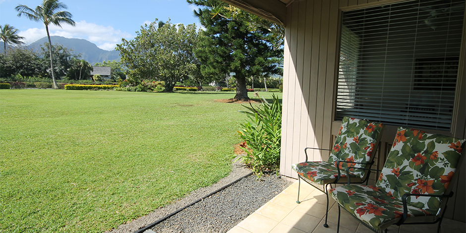 View from lanai at Castle at Princeville