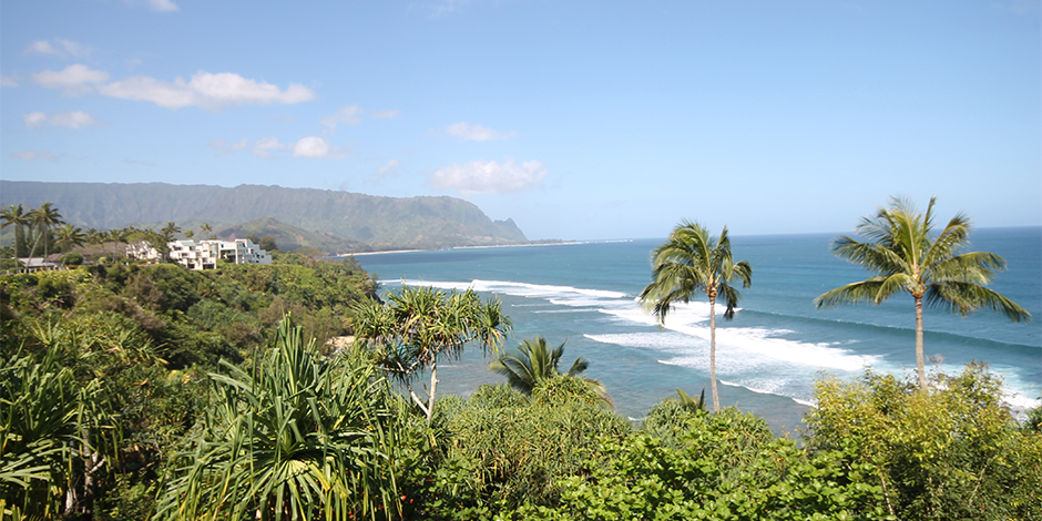 Ocean view from lanai at Castle at Princeville