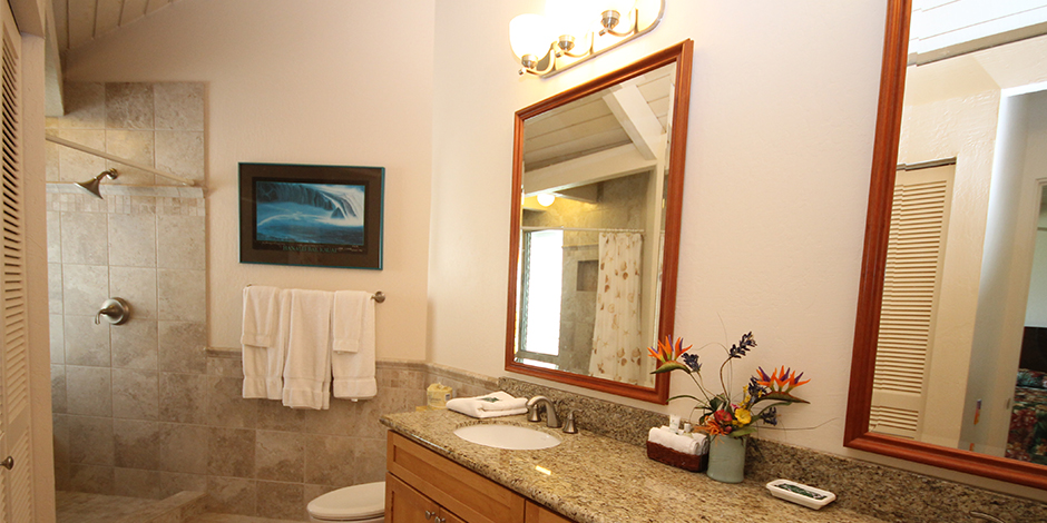 Bathroom at Castle at Princeville