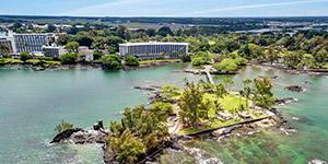 Aerial View Of Hilo Hawaiian Hotel