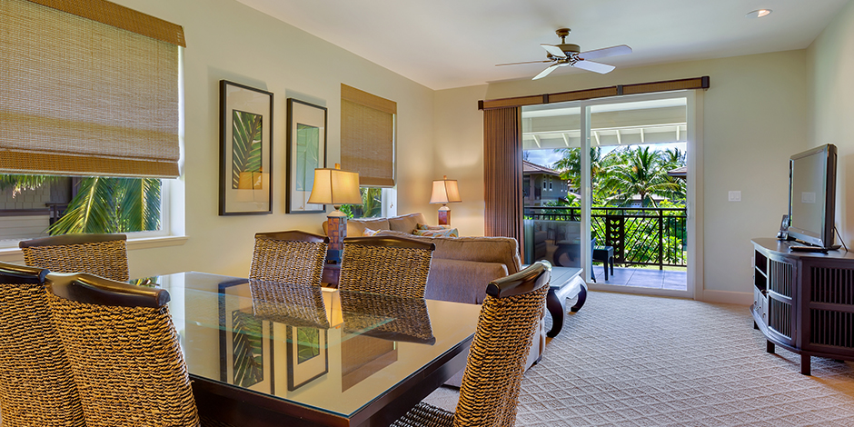 Interior livingroom at Halii Kai at Waikoloa