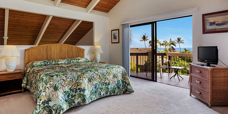 Bedroom view of Kanaloa at Kona