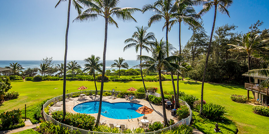 Pool view of Kaha Lani Resort