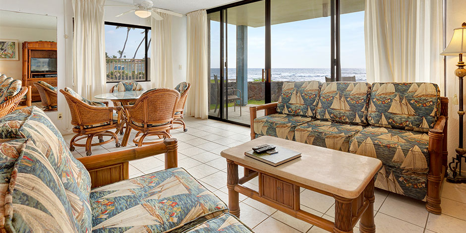 Livingroom at Kona Reef Resort