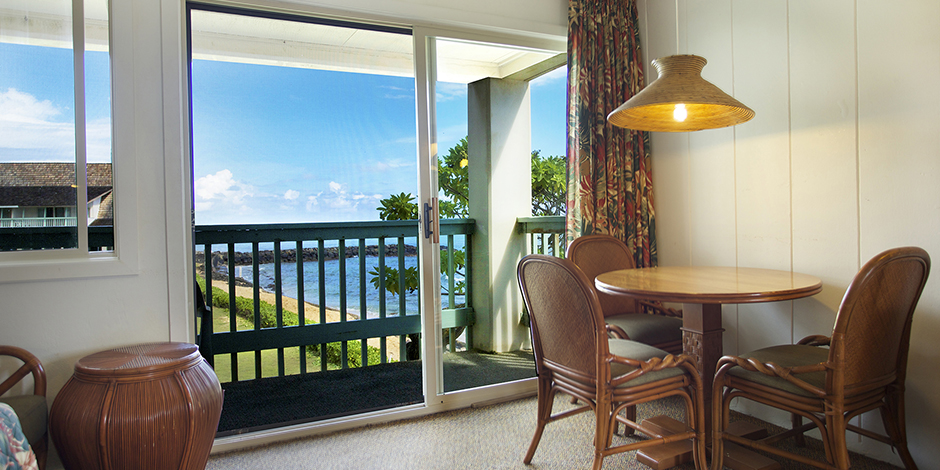 View of ocean from unit at Mokihana