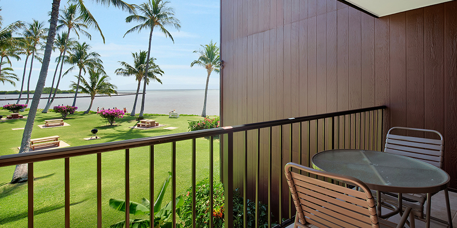 View from the lanai in a 1-Bedroom Oceanfront at Molokai Shores