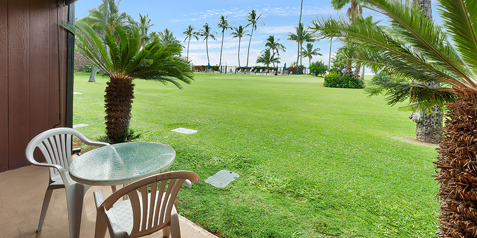 View from a 1 bedroom Ocean View lanai at Molokai Shores