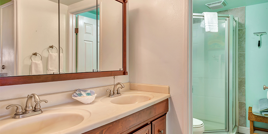 Bathroom in a 2-Bedroom Ocean View at Molokai Shores