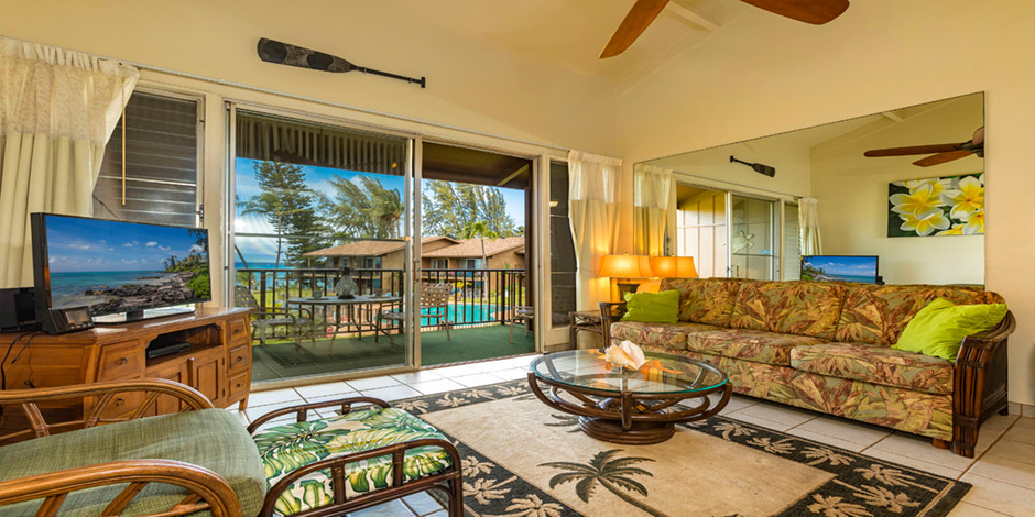 Living room at Polynesian Shores