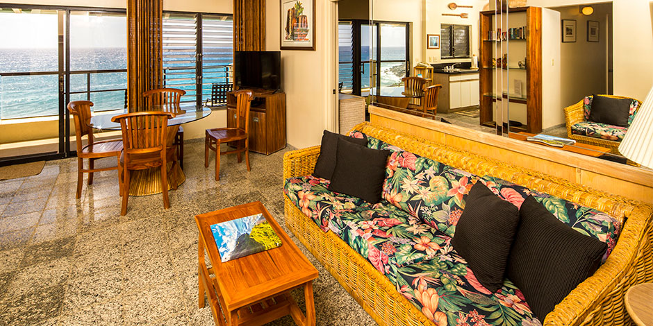Livingroom at Poipu Shores Resort