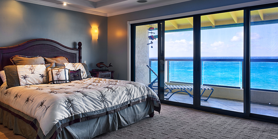 Master bedroom at Poipu Shores Resort