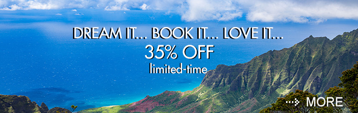 Dream it.Book it.Love it. Save 35%.
