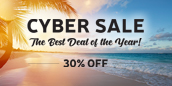 Cyber Sale 2020 - the Best Deal of the Year 30%